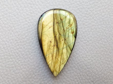 Load image into Gallery viewer, 41x24x7mm, Faceted Labradorite Gemston Cabochon teardrop Shape