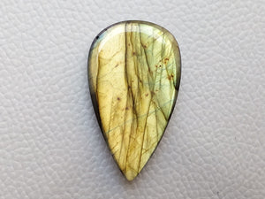 41x24x7mm, Faceted Labradorite Gemston Cabochon teardrop Shape