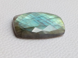 33x23x7mm, Natural Gemstone Faceted Labradorite  Gemstone Cabochon Rectangle Shape