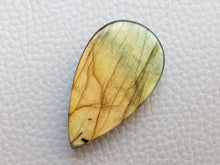 Load image into Gallery viewer, 33x19x7mm, Natural Gemstone Labradorite Faceted Gemstone Cabochon teardrop Shape