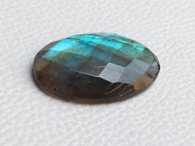 Load image into Gallery viewer, 30x21x6mm,  Gemstone Faceted Labradorite Oval Shape