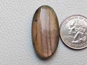 36x19x8mm,   Labradorite Gemstone Cabochon Oval Shape