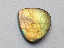 Load image into Gallery viewer, 33x35x7mm,   Labradorite Gemstone Cabochon teardrop Shape