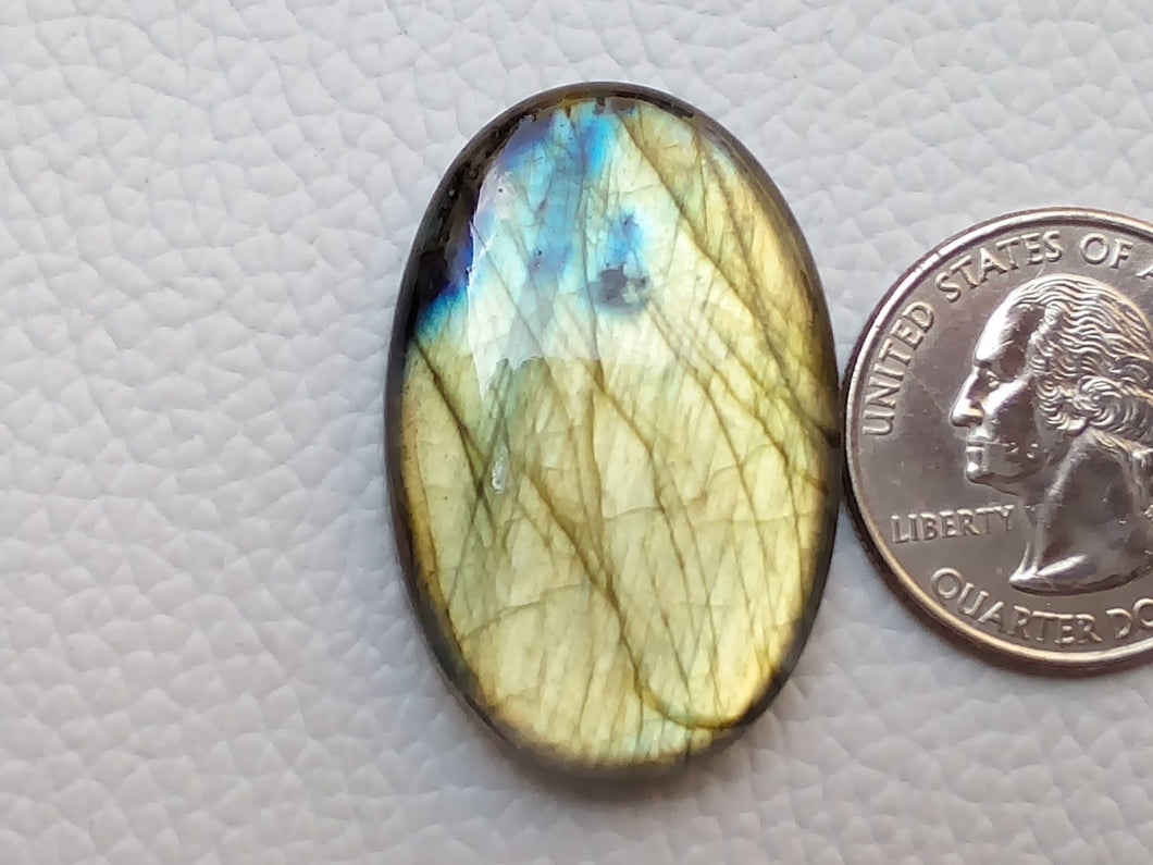 36x23x7mm,   Labradorite Gemstone Cabochon Oval Shape