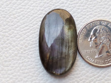 Load image into Gallery viewer, 33x19x7mm,  Dark Labradorite Gemstone Cabochon Oval Shape