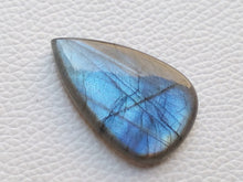 Load image into Gallery viewer, 39x24x8mm,  Blue Labradorite Gemstone Cabochon teardrop Shape