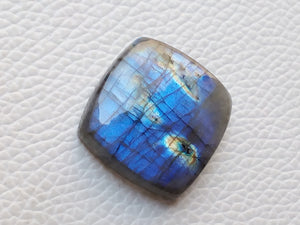 25x25x8mm,  Blue Labradorite Gemstone Cabochon Cussion Shape