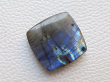 Load image into Gallery viewer, 25x25x8mm,  Blue Labradorite Gemstone Cabochon Cussion Shape
