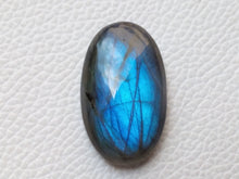 Load image into Gallery viewer, 33x20x9mm,  Deep Blue Labradorite Gemstone Cabochon Oval Shape