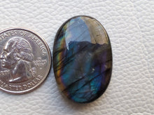 Load image into Gallery viewer, 33x22x8mm,  Purple Labradorite Gemstone Cabochon Oval Shape
