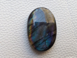 33x22x8mm,  Purple Labradorite Gemstone Cabochon Oval Shape