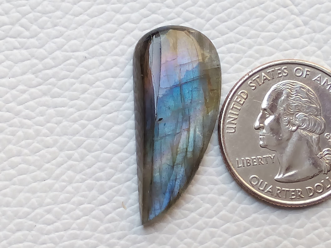 33x15x5mm, Blue Labradorite Gemstone Cabochon  Freeform Shape
