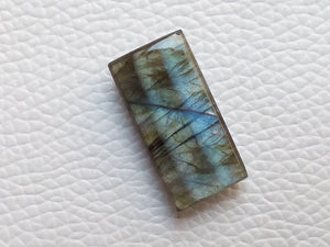 24x12x6mm, Clear Sky Blue Labradorite Gemstone Cabochon Rectanguler Shape