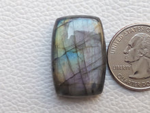 Load image into Gallery viewer, 29x20x8mm, Multi Purple Labradorite Pendant Gemstone Rectangular Shape