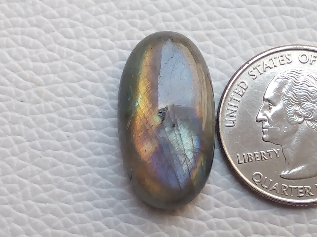 26x14x8mm, purple Labradorite Pendant Gemstone Oval Shape