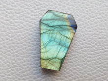 Load image into Gallery viewer, 28x18x7mm,  Coffin Stone Labradorite Pendant Gemstone Coffin Shape