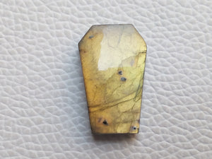 25x16x6mm,  Coffin Stone Labradorite Pendant Gemstone Coffin Shape