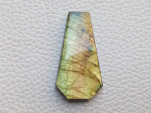 Load image into Gallery viewer, 33x18x5mm,  Coffin Stone Labradorite Pendant Gemstone Coffin Shape