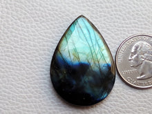 Load image into Gallery viewer, 40x29x6mm,  Nice  Labradorite Pendant Gemstone Pear Shape