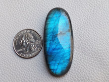 Load image into Gallery viewer, 54x24x9mm, Big Size Blue Labradorite Pendant Gemstone Oval Shape