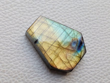 Load image into Gallery viewer, 30x24x7mm,  2 Shaded Labradorite Pendant Gemstone Coffin Shape