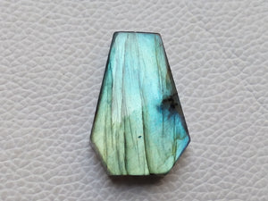 33x23x8mm, Blue Full Flashy Labradorite Pendant Gemstone Coffin Shape