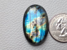 Load image into Gallery viewer, 33x21x7mm,  Blue Multi Labradorite Cabochon Gemstone Oval Shape