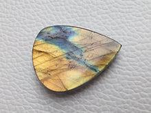 Load image into Gallery viewer, 32x23x7mm,  2 Shaded Labradorite Cabochon Gemstone teardrop Shape