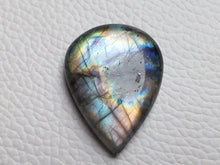 Load image into Gallery viewer, 29x22x7mm,  2 Tone Labradorite Cabochon Gemstone teardrop Shape