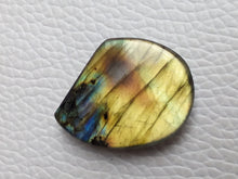 Load image into Gallery viewer, 27x21x6mm,  2 Shaded Labradorite Cabochon Gemstone Freeform Shape