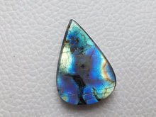 Load image into Gallery viewer, Blue Stripped Labradorite Cabochon Gemstone 29x20x7mm, teardrop Shape
