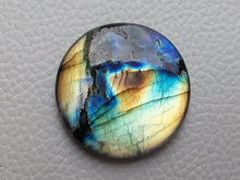 Load image into Gallery viewer, Twin shaded  Labradorite Cabochon Gemstone 30x30x7mm, Round Shape