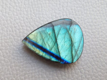Load image into Gallery viewer, Natural  Labradorite Cabochon Gemstone 31x23x7mm, teardrop Shape