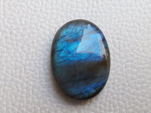 Blue  Labradorite Cabochon Gemstone 28x20x7mm, Oval Shape