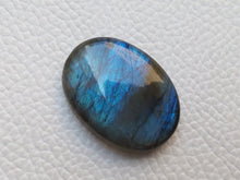 Load image into Gallery viewer, Blue  Labradorite Cabochon Gemstone 28x20x7mm, Oval Shape