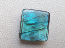 Load image into Gallery viewer, Blue  Labradorite Cabochon Gemstone 26x23x8mm, Rectangular Shape