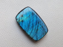 Load image into Gallery viewer, Blue  Labradorite Cabochon Gemstone 45x29x10mm, Rectangular Shape