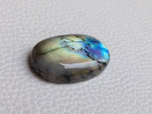 Load image into Gallery viewer, radiant Two Shaded Labradorite Cabochon  26x17x6mm Healing Gemstone Oval Shape