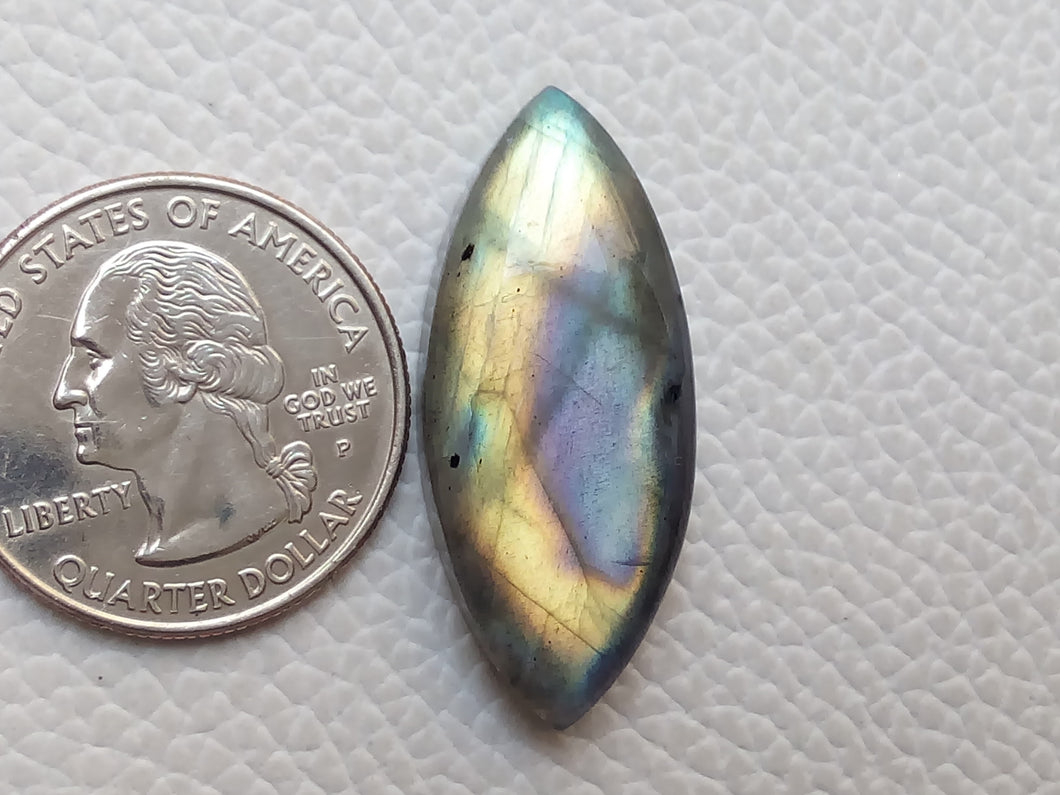 delightful Two Shaded Labradorite Cabochon  34x15x7mm Healing Gemstone Marquise Shape