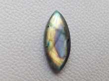 Load image into Gallery viewer, delightful Two Shaded Labradorite Cabochon  34x15x7mm Healing Gemstone Marquise Shape