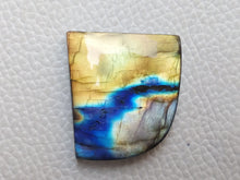Load image into Gallery viewer, Junoesque Three Shaded Labradorite Cabochon  29x26x6mm Healing Gemstone Freeform Shape