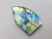 Load image into Gallery viewer, sublime 3 Color Labradorite Cabochon  33x21x6mm Healing Gemstone Freeform Shape
