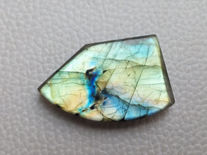 sublime 3 Color Labradorite Cabochon  33x21x6mm Healing Gemstone Freeform Shape