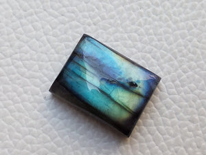 Junoesque blue Labradorite Gemstone 20x15x7mm Healing Gemstone Rectangular Shape