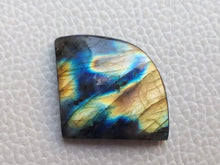 Load image into Gallery viewer, statuesque Multi Labradorite Cabochon  26x33x6mm Healing Gemstone Freeform Shape