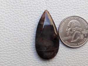 36x18x5 mm forest fire Jasper Freeform Shape