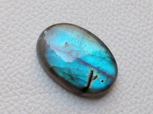 magnificent Blue Labradorite Cabochon  30x20x7mm Healing Gemstone Oval Shape