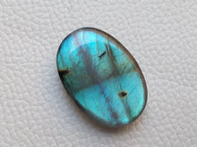 Load image into Gallery viewer, magnificent Blue Labradorite Cabochon  30x20x7mm Healing Gemstone Oval Shape