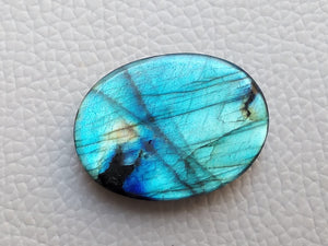 splendid Blue Labradorite Cabochon  31x23x6mm Healing Gemstone Oval Shape