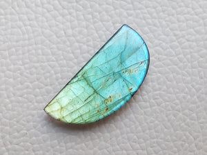 glamorous  Blue Labradorite Cabochon  31x14x4mm Healing Gemstone Freeform Shape